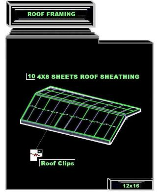12 x16 shed roof framing sheathing quantity 12 x16 shed roof sheathing