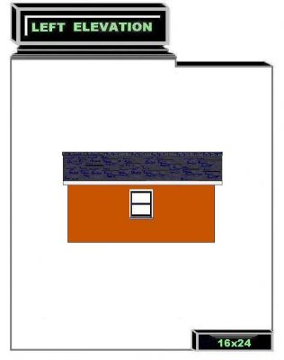 Shed Building 24' Left Plan Design