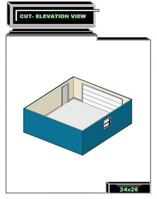 Click to view full size image for 24x26 garage plans