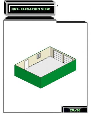 Click to view full size image for 26 x 36 garage