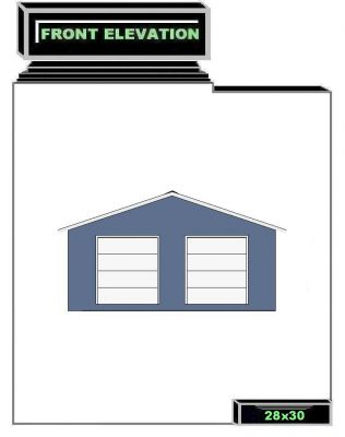 Click to view full size image for 28x30 garage plans