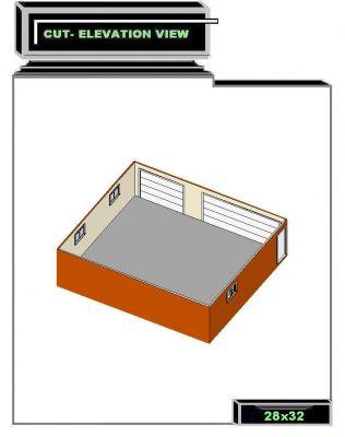 Www 28 x 32 garage building plan for 28 x 32 garage plans